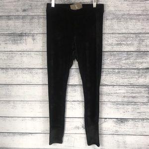 NWT-J.JILL-Black Velvet Leggings -Size(M)